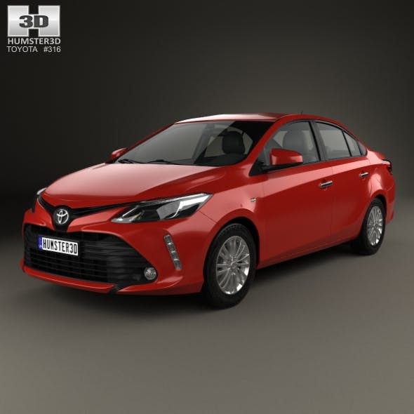 Toyota Vios 2017 - 3DOcean Item for Sale
