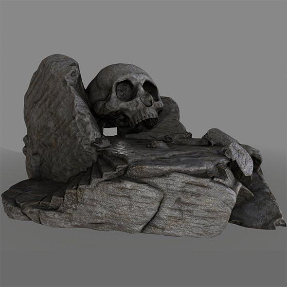 skull cave - 3DOcean Item for Sale