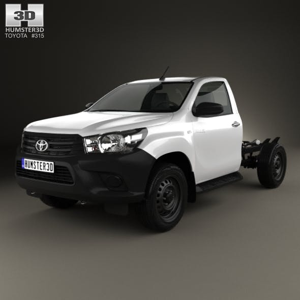 Toyota Hilux Workmate Single Cab Chassis 2015 - 3DOcean Item for Sale