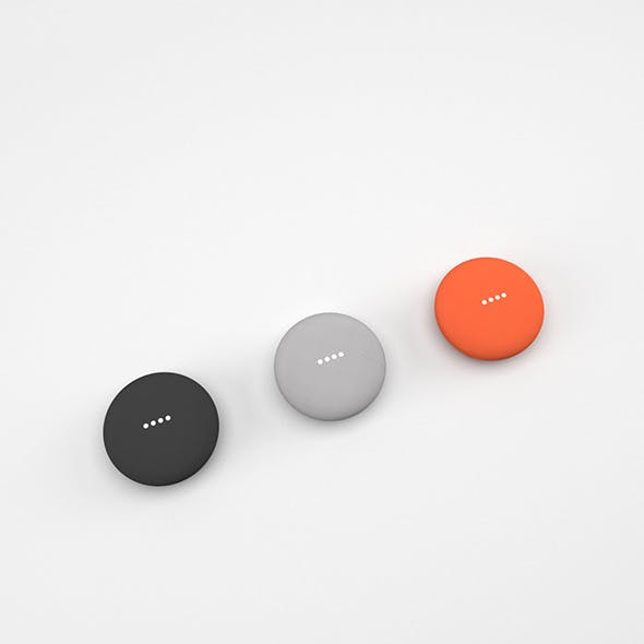 Google Home Mini All Colors - 3DOcean Item for Sale