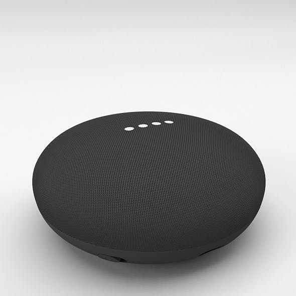 Google Home Mini Charcoal - 3DOcean Item for Sale