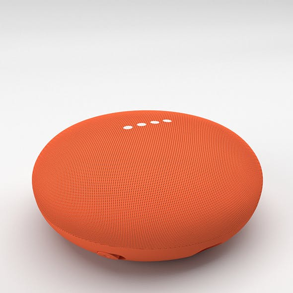 Google Home Mini Coral - 3DOcean Item for Sale