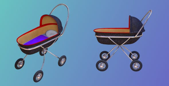 Baby Buggy 3D object - 3DOcean Item for Sale