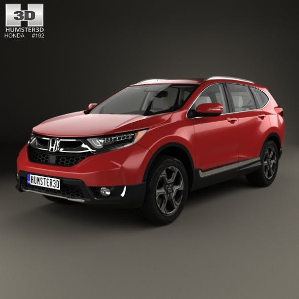 Honda CR-V Touring with HQ interior 2017 - 3DOcean Item for Sale