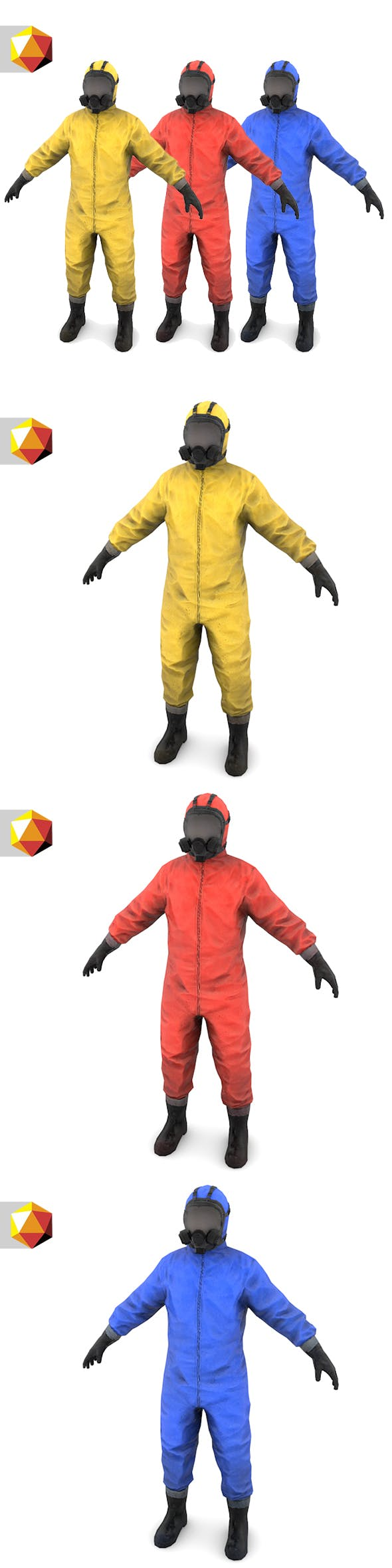 """Bio suit """" Hazmat worker """" - 3DOcean Item for Sale"""