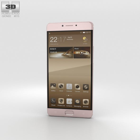 Gionee M6 Mocha Gold - 3DOcean Item for Sale