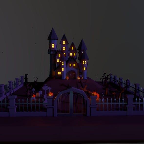 Halloween Castle - 3DOcean Item for Sale