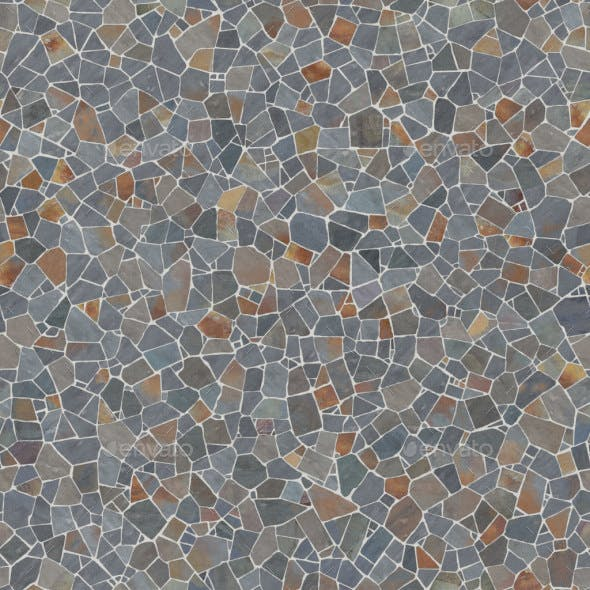 Rustic and Gray  Slate Crazy Paving - 3DOcean Item for Sale