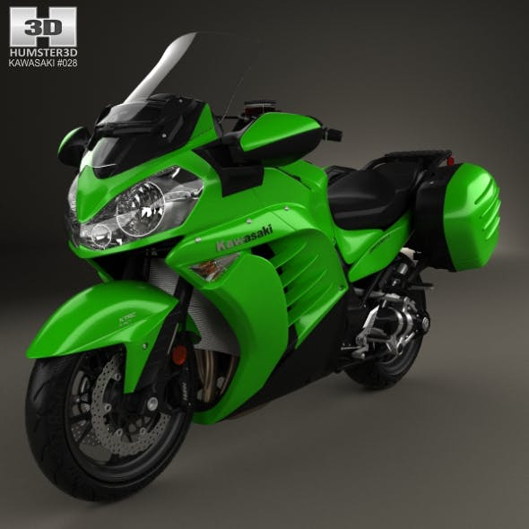 Kawasaki Concours 14 2015 - 3DOcean Item for Sale