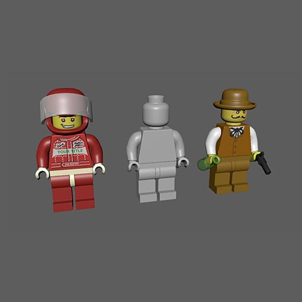Lego Man Minifigure - 3DOcean Item for Sale