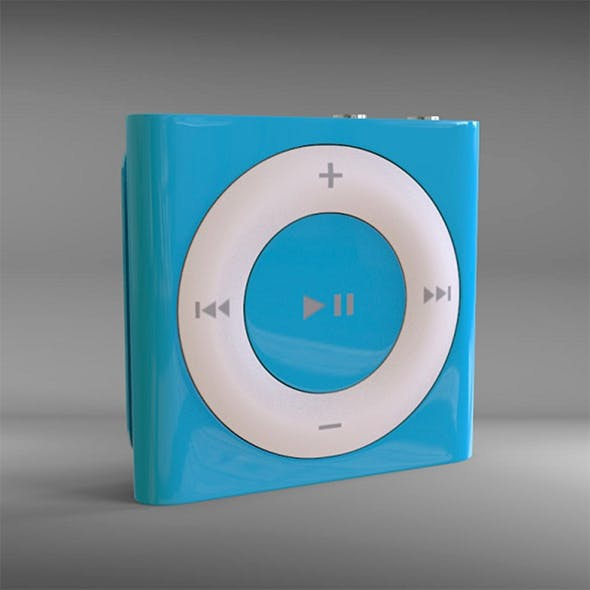 Highpoly Apple Ipod Shuffle - 3DOcean Item for Sale