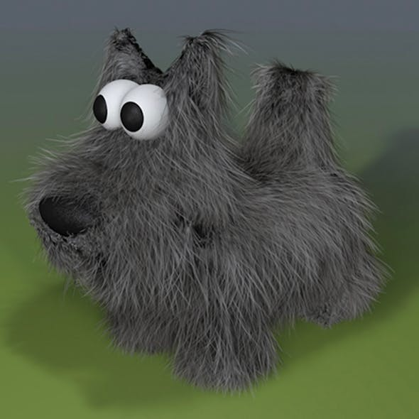 Cartoon Scottish Terrier Dog Model