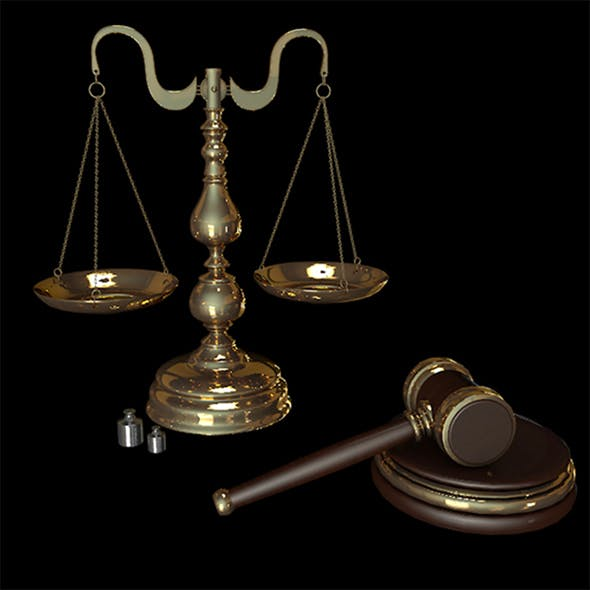 Scales & Gavel - 3DOcean Item for Sale