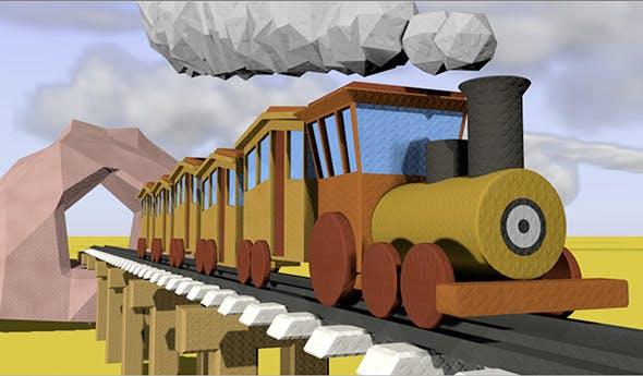 Cartoon Animated Train - 3DOcean Item for Sale