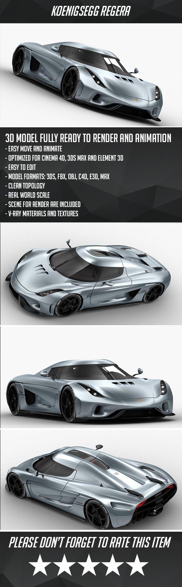 Koenigsegg Regera - 3DOcean Item for Sale