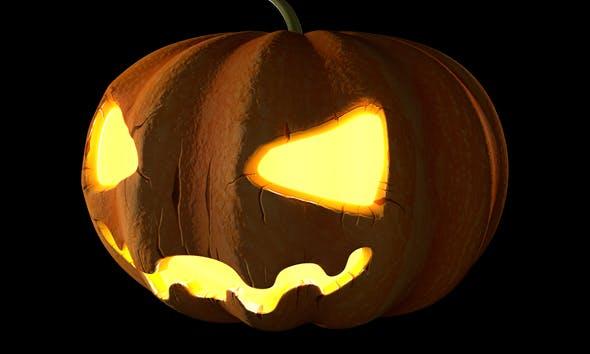 C4D Halloween Pumpkin Animated - 3DOcean Item for Sale