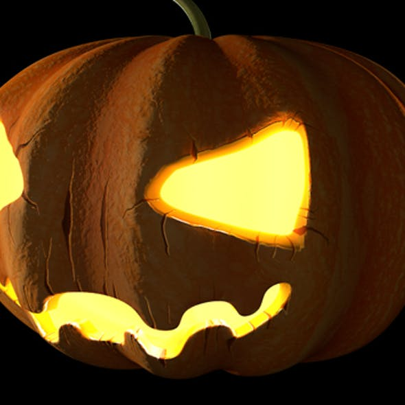C4D Halloween Pumpkin Animated