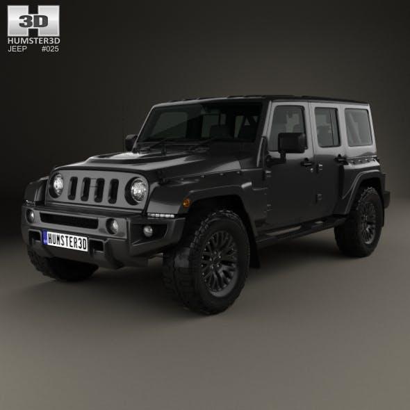 Jeep Wrangler Project Kahn JC300 Chelsea Black Hawk 4-door 2016