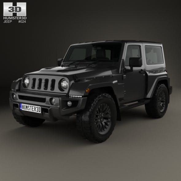Jeep Wrangler Project Kahn JC300 Chelsea Black Hawk 2-door 2016 - 3DOcean Item for Sale