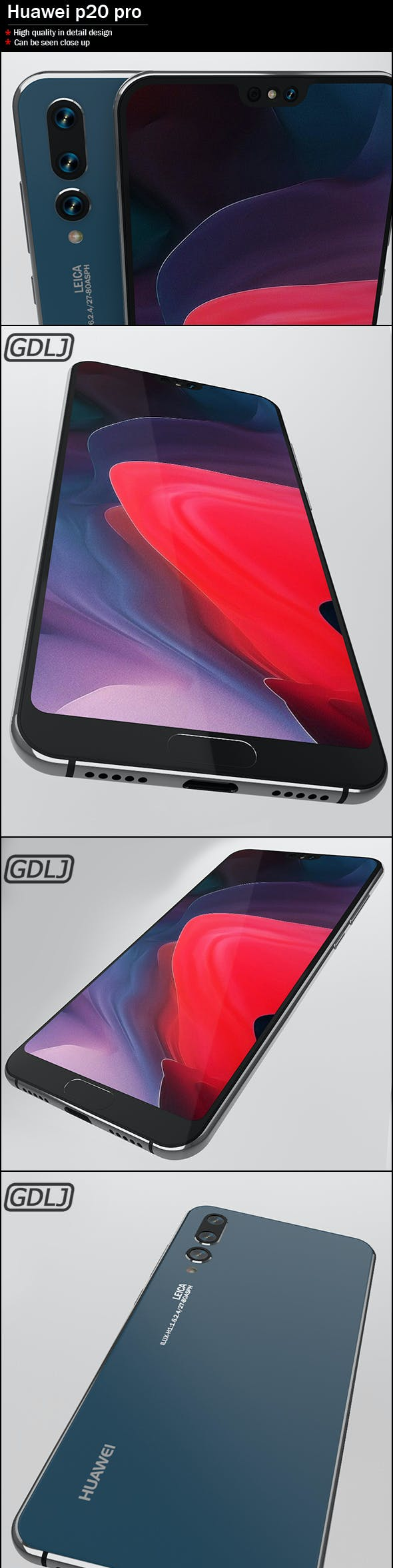 Huawei P20 Pro - 3DOcean Item for Sale
