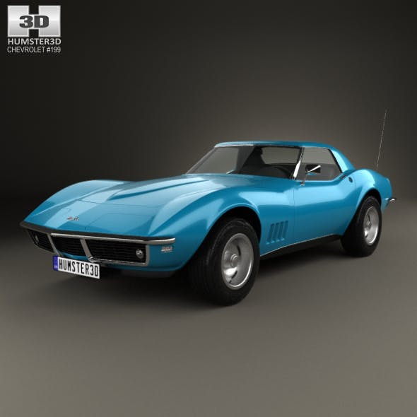 Chevrolet Corvette (С3) Convertible 1968 - 3DOcean Item for Sale