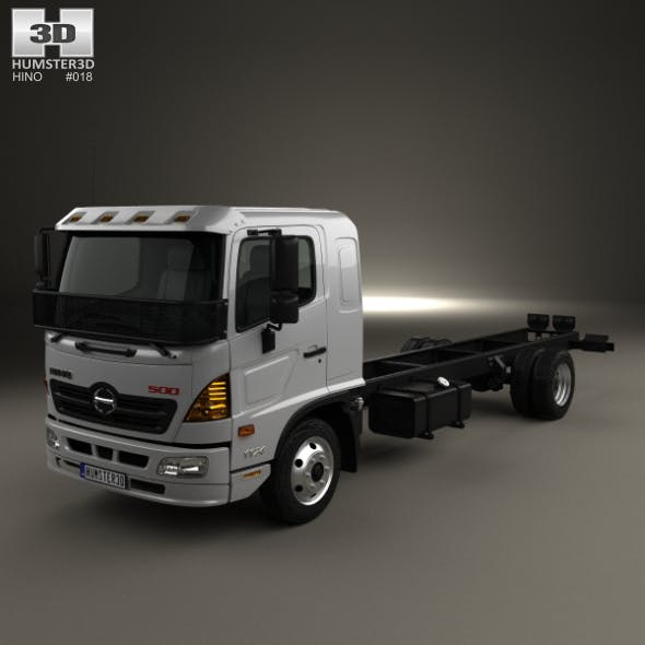 Hino 500 FD (1124) Chassis Truck 2016 - 3DOcean Item for Sale