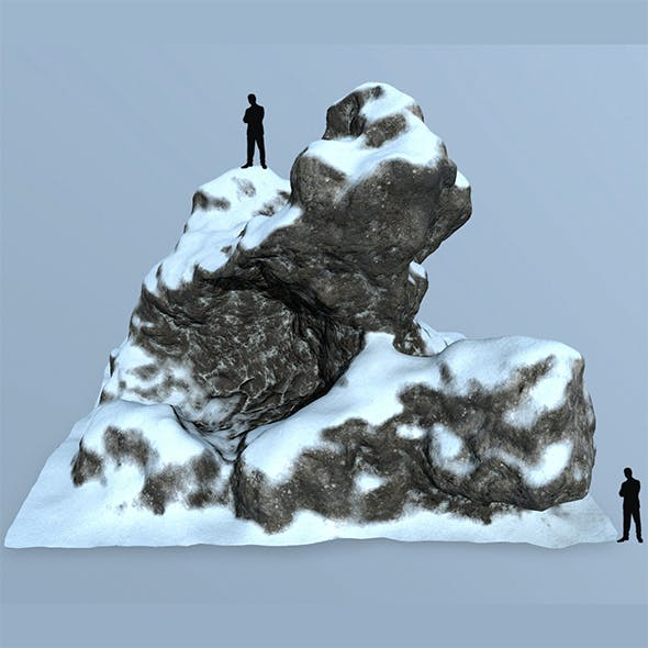 snow rock - 3DOcean Item for Sale