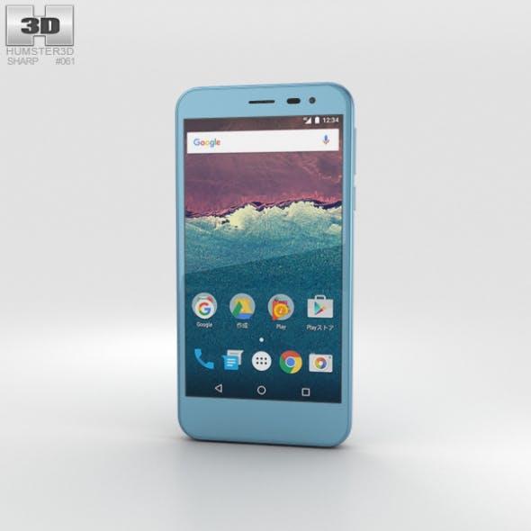 Sharp Aquos 507SH Blue - 3DOcean Item for Sale