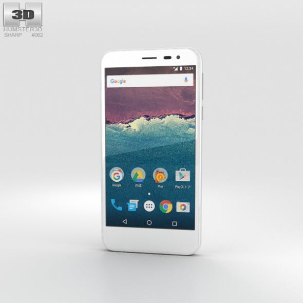 Sharp Aquos 507SH White - 3DOcean Item for Sale