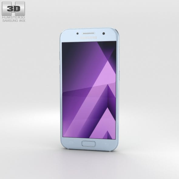 Samsung Galaxy A3 (2017) Blue Mist - 3DOcean Item for Sale