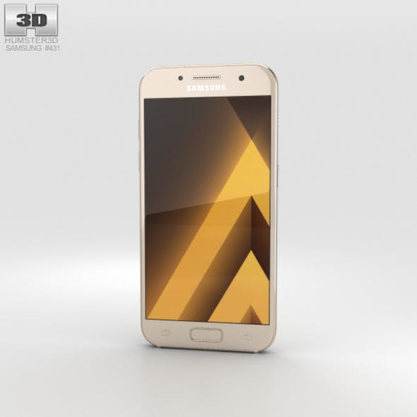 Samsung Galaxy A3 (2017) Gold Sand - 3DOcean Item for Sale