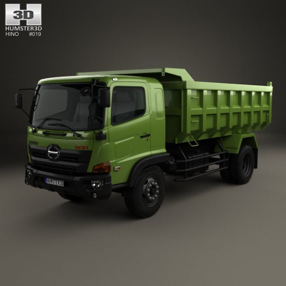 Hino 500 FG Tipper Truck 2016 - 3DOcean Item for Sale