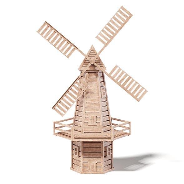 Windmill Miniature 3D Model - 3DOcean Item for Sale
