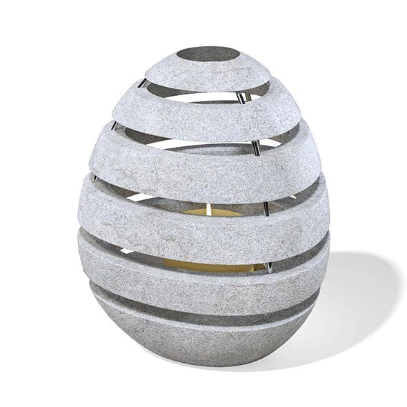 Rock Shaped Lantern 3D Model - 3DOcean Item for Sale