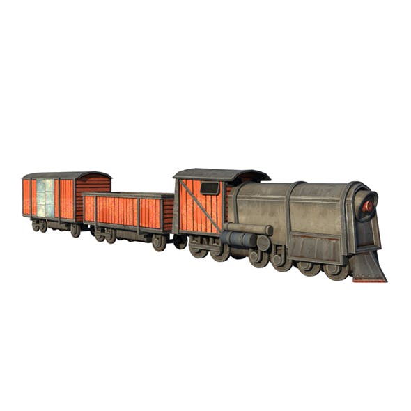 Low Poly Game Ready Train - 3DOcean Item for Sale