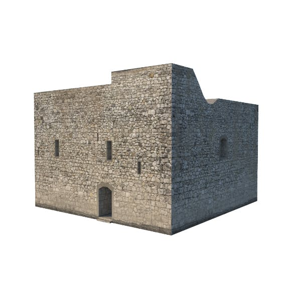 Castle prison low poly
