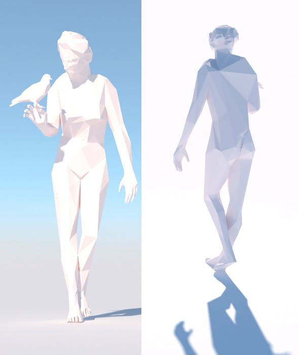 Low Poly Woman Model - 3DOcean Item for Sale