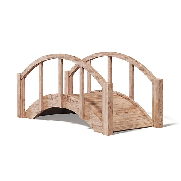 Small Wooden Bridge 3D Model - 3DOcean Item for Sale