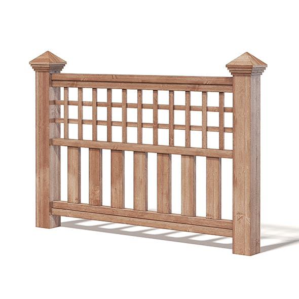 Wooden Fence 3D Model - 3DOcean Item for Sale