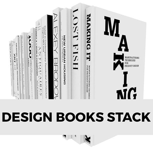Design Books Stack - 3DOcean Item for Sale
