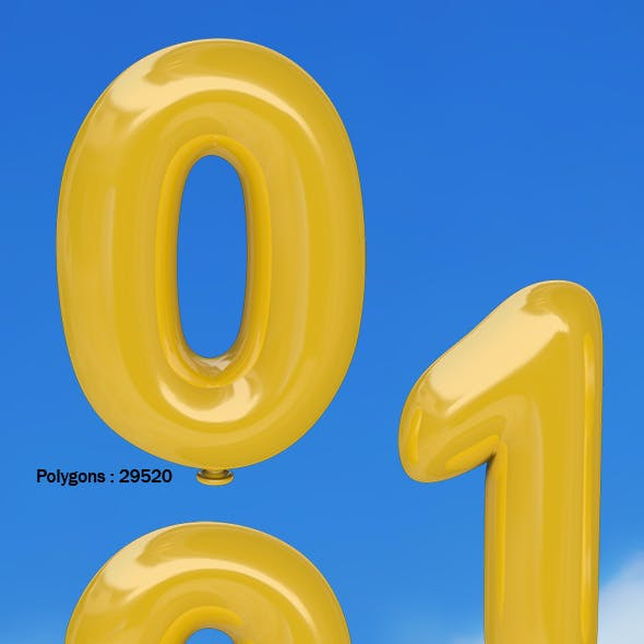 Balloon Numbers 0 - 9