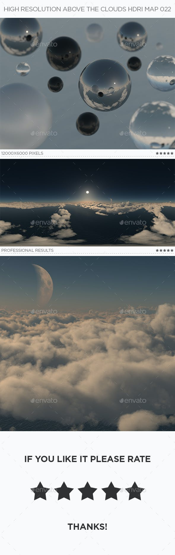 High Resolution Above The Clouds HDRi Map 022 - 3DOcean Item for Sale