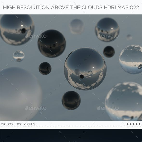 High Resolution Above The Clouds HDRi Map 022