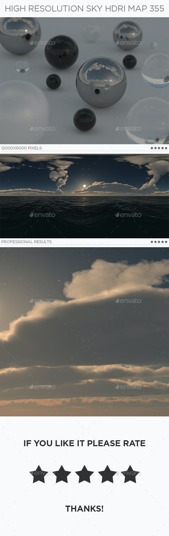 High Resolution Sky HDRi Map 355 - 3DOcean Item for Sale