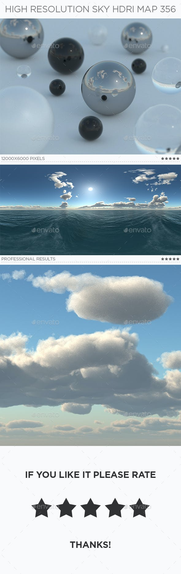 High Resolution Sky HDRi Map 356 - 3DOcean Item for Sale