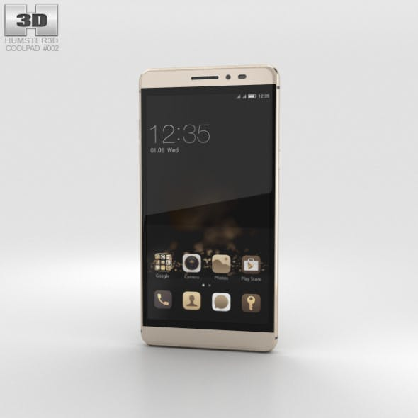 Coolpad Max Royal Gold - 3DOcean Item for Sale