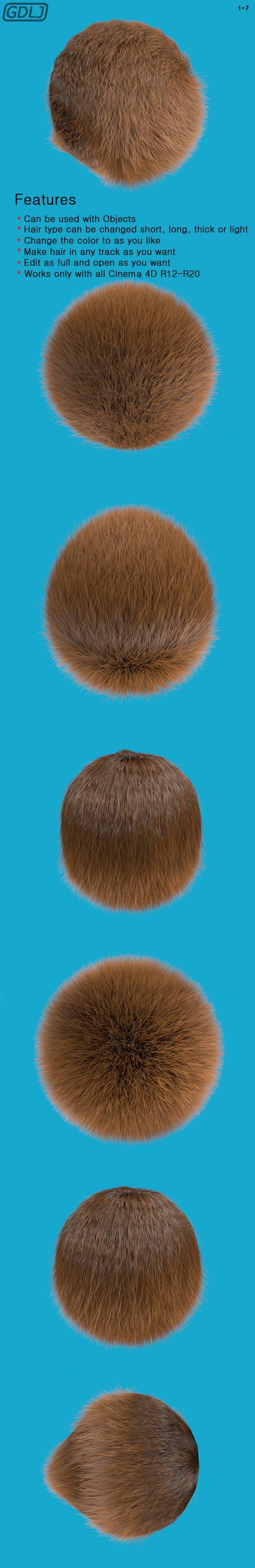 """Hair Simulate """" Full """" - 3DOcean Item for Sale"""