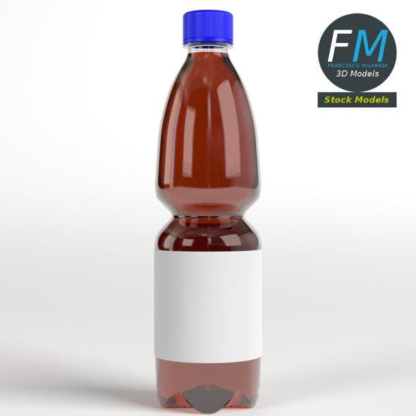Bottle with liquid and label - 3DOcean Item for Sale