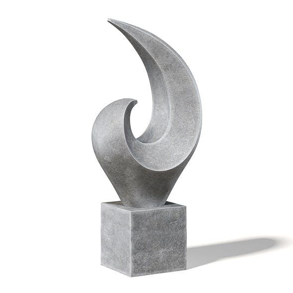 Concrete Sculpture 3D Model - 3DOcean Item for Sale