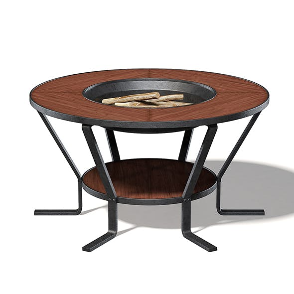 Barbecue Table 3D Model - 3DOcean Item for Sale